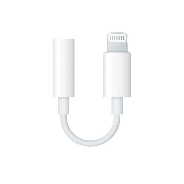 Адаптер Apple Lightning to 3.5 mm Headphone Jack Adapter MMX62ZM/A